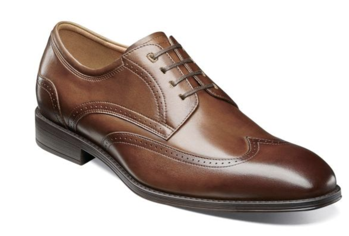 Florsheim Mens shoes Amelio Oxford Cognac Wingtip 14242-221