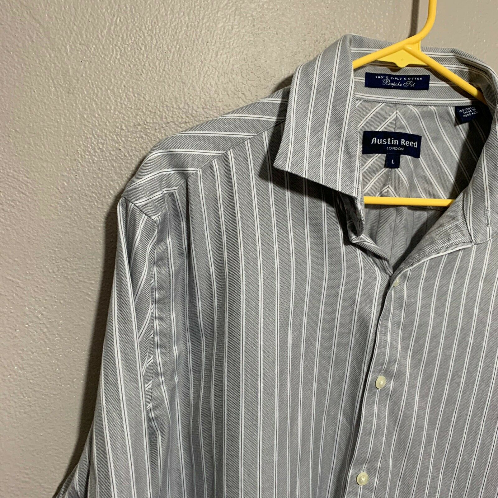 Austin Reed London Mens Shirt 100 Cotton Bespoke Fit Gem