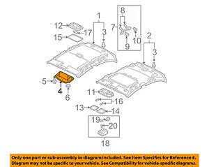 Right Genuine Honda 83230-SNA-A01ZF Sun Visor Assembly