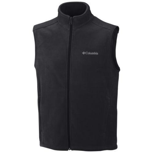 1de807bb67da Columbia Zip Front Black Fleece Vest Size Large Men s Regular L for ...