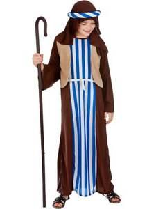 Shepherd Costume Joseph Ragazzi ROBE Natale Natività Natale Costume Vestito Nuovo