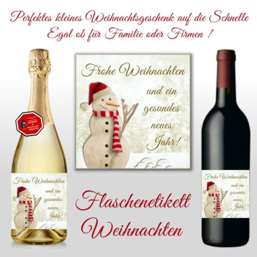Flaschenetikett f Sektflaschen Bierflaschen Weinflaschen Weihnachten Des.13