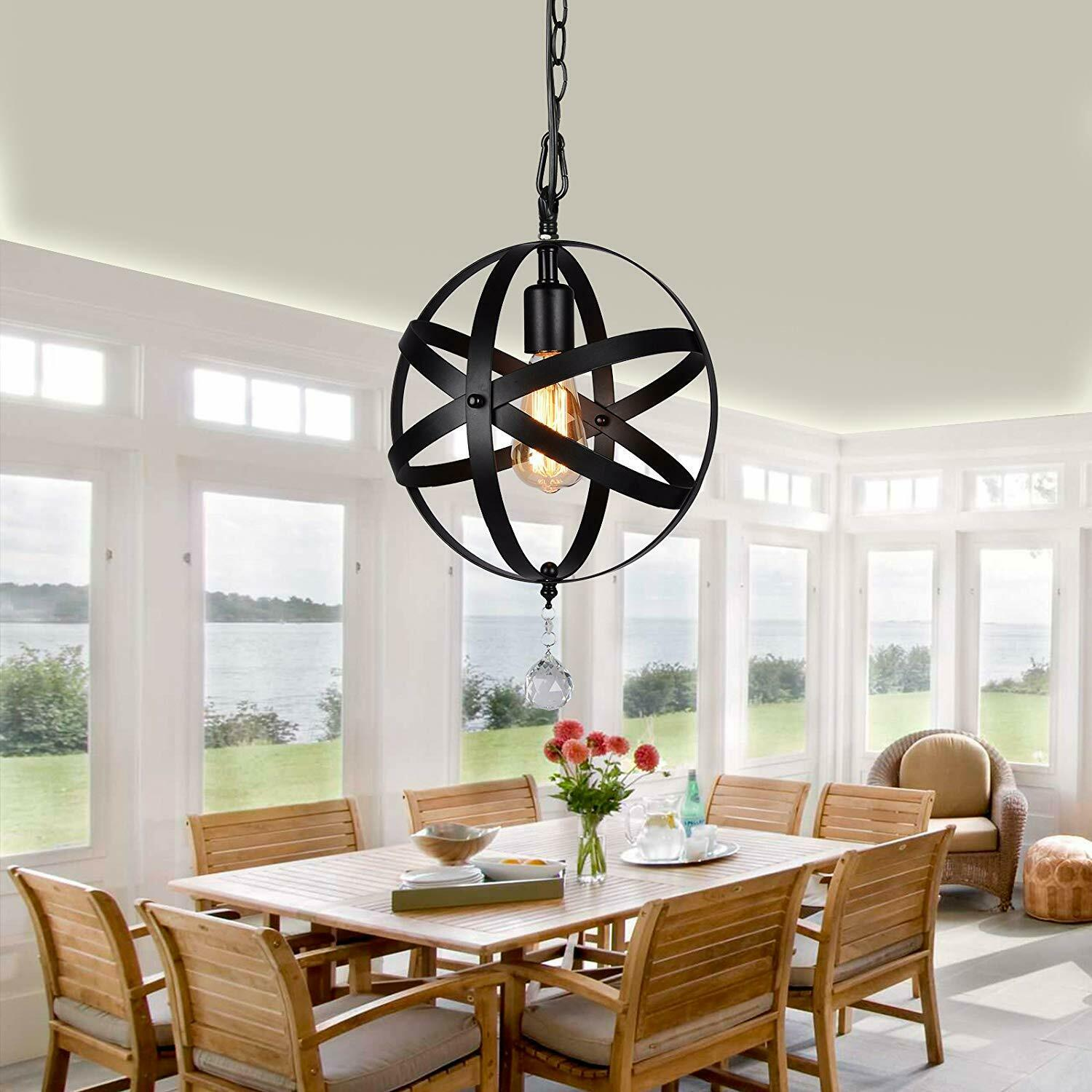 Dining Room Orb Pendant Hanging