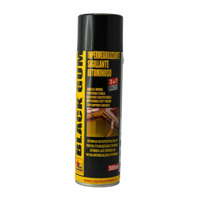 Spray Black Gum Impermeabilizzante guaina sigillante bituminoso superficie legno