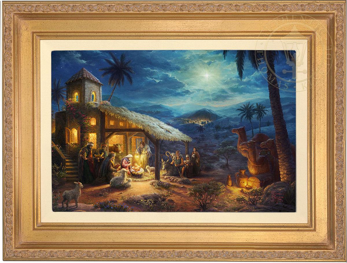 Thomas Kinkade The Nativity 12 x 18 Limited Edition G P Canvas (Framed)