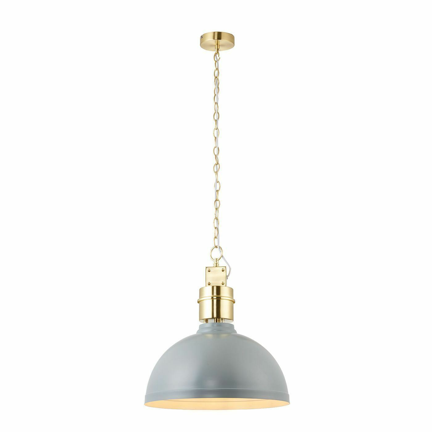Endon Lighting Collingham 1lt Pendentif 40 40 Pendentif W-Satin 67557 0fe30b