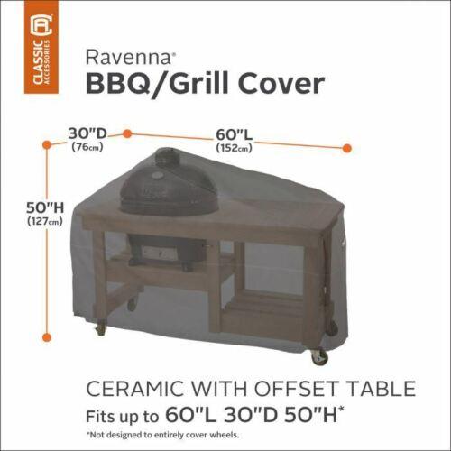 RAVENNA Grill in Ceramica BBQ Barbecue a cupola con copertura tavolo Offset