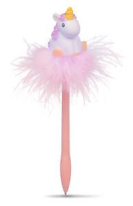 10 Bunte Kugelschreiber Pink Einhorn Gel Stift Flamingo Shuttle Tinte Prak.DezYL