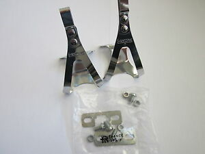 NOS-CHRISTOPHE-034-D-034-PEDAL-TOE-CLIPS-SMALL-WITH-MOUNTING-HARDWARE