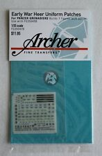 Archer 1/35 Early War Heer Uniform Patches for Panzergrenadiers FG35047B