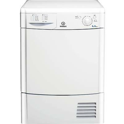 Indesit IDC8T3B 8Kg 2 Temps Condenser Tumble Dryer with Reverse Action in White