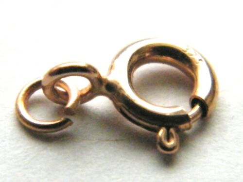 9ct Yellow Gold 5.0mm Bolt Ring w//Jump Ring Clasp-Necklace-Bracelet Spring Ring