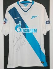 ZENIT PETERBURG (RUSSIA) MATCH WORN SHIRT WEST BROMWICH ENGLAND MALAGA SPAIN