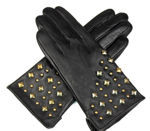 Damen Echt Leder Handschuhe Gefüttert Gr S 6,5 M 7 L 7,5 XL 8 XXL 8,5  //S174