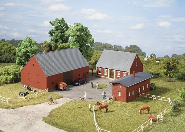 Auhagen H0 11439: fattoria - Casa di abitazione, Fienile, STALLE