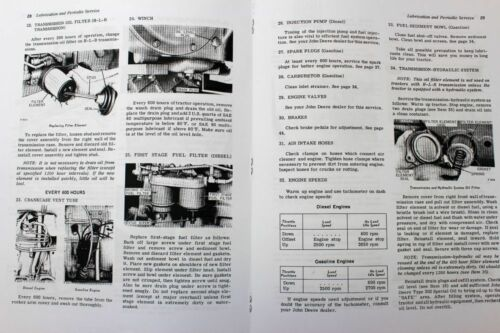 SERVICE MANUAL SET FOR JOHN DEERE 2010 CRAWLER TRACTOR PARTS OPERATORS REPAIR