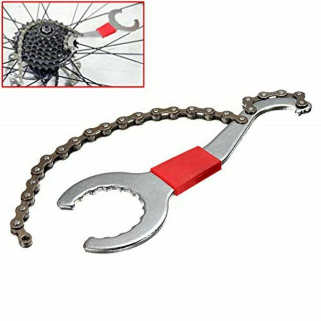 3 In 1 Bike Chain Whip Cassette Bracket Freewheel Wrench Remover L9H8 Repai Q6L7