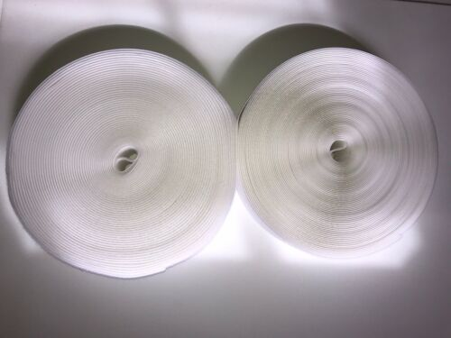 5 cm Hook and Loop Sew On Non-adhesive 2 In Tape White 27 Yards Roll
