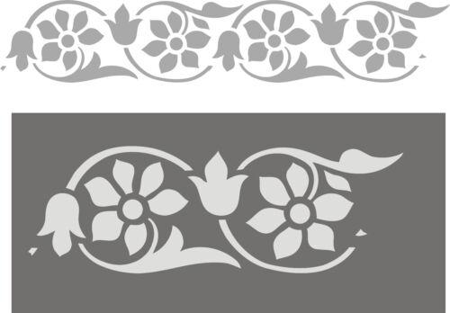 Wandfries wandschablone décor Fries stupfschablone peintre gabarit décor baroque
