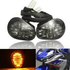 Smoke LED Turn Signal Indicator Light Lamp Flush Mount For Yamaha YZF R1 R6 R6S