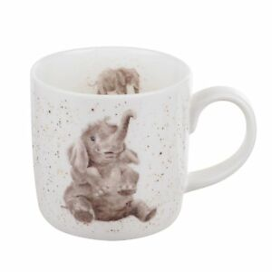 Royal-Worcester-Wrendale-Role-Modelos-Elefante-Pequeno-Individual-Taza-Porcelana