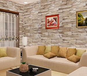 Stone Wallpaper Brick Wall Sticker Home Decor Self Adhesive Wall