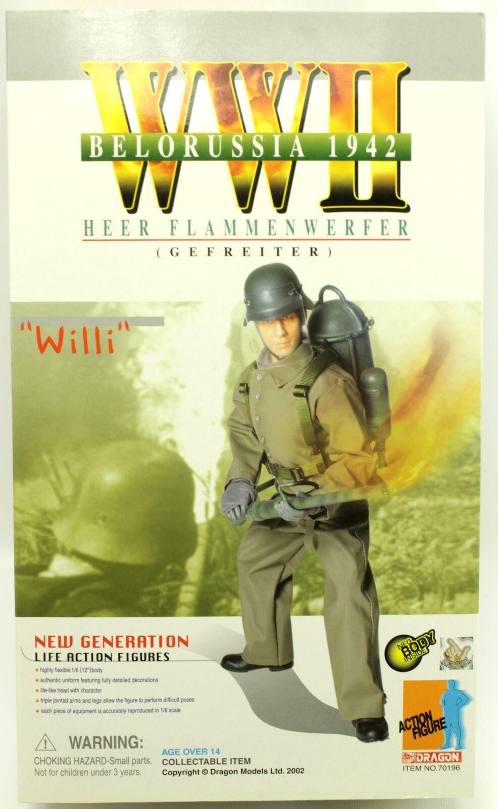 WWII Willi Heer Flammenwerfer Belorussia 1942 Dragon 12