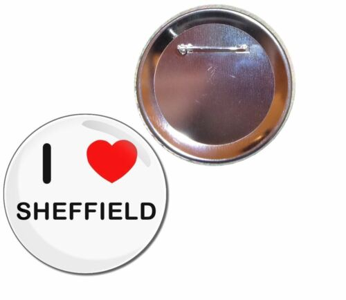 I Love Sheffield Button Badge Choice 25mm//55mm//77mm Novelty Fun BadgeBeast