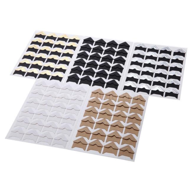 5 Sheet DIY Photo Album Scrapbook Corner Sticker PVC 24pcs/sheet Classical NEW