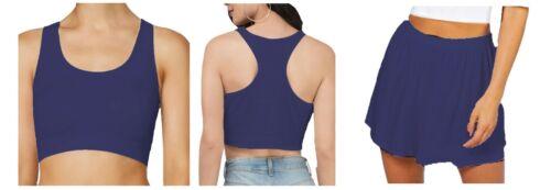 Wrbct//SH femme sans manches en viscose Dos Nageur Crop Top /& Flare Short Pack Set