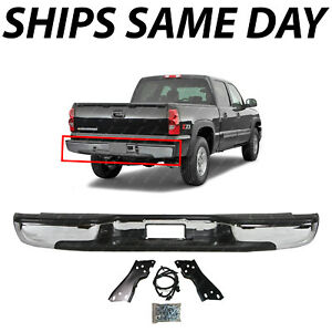 Details About New Complete Chrome Rear Bumper For 1999 2006 Chevy Silverado Gmc Sierra 1500