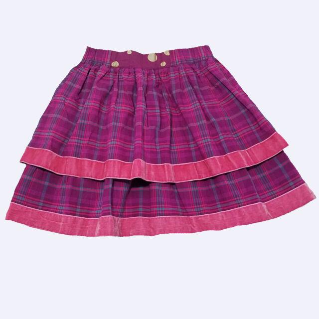 NWT Matilda Jane Misha Skirt Friends Forever Girls 6 Holiday Plaid Velvet