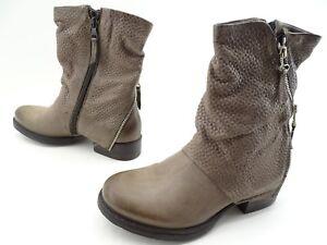 Details zu Arizona Damen Stiefel, Stiefeletten im Used Look Boots Leder