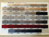 Chevrolet Frontera Foam-backed Cloth Headliner Material, Any Year & Color