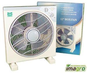 boxfan umluft ventilator mit timer und oszillierend 30cm 3 stufen kasten ebay. Black Bedroom Furniture Sets. Home Design Ideas