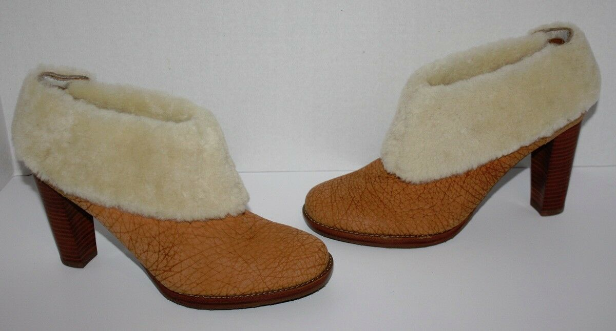 NWOB Damenschuhe Calvin Größe Klein Pam Leder Chestnut Ankle Stiefel Größe Calvin 8 M 0bdf44