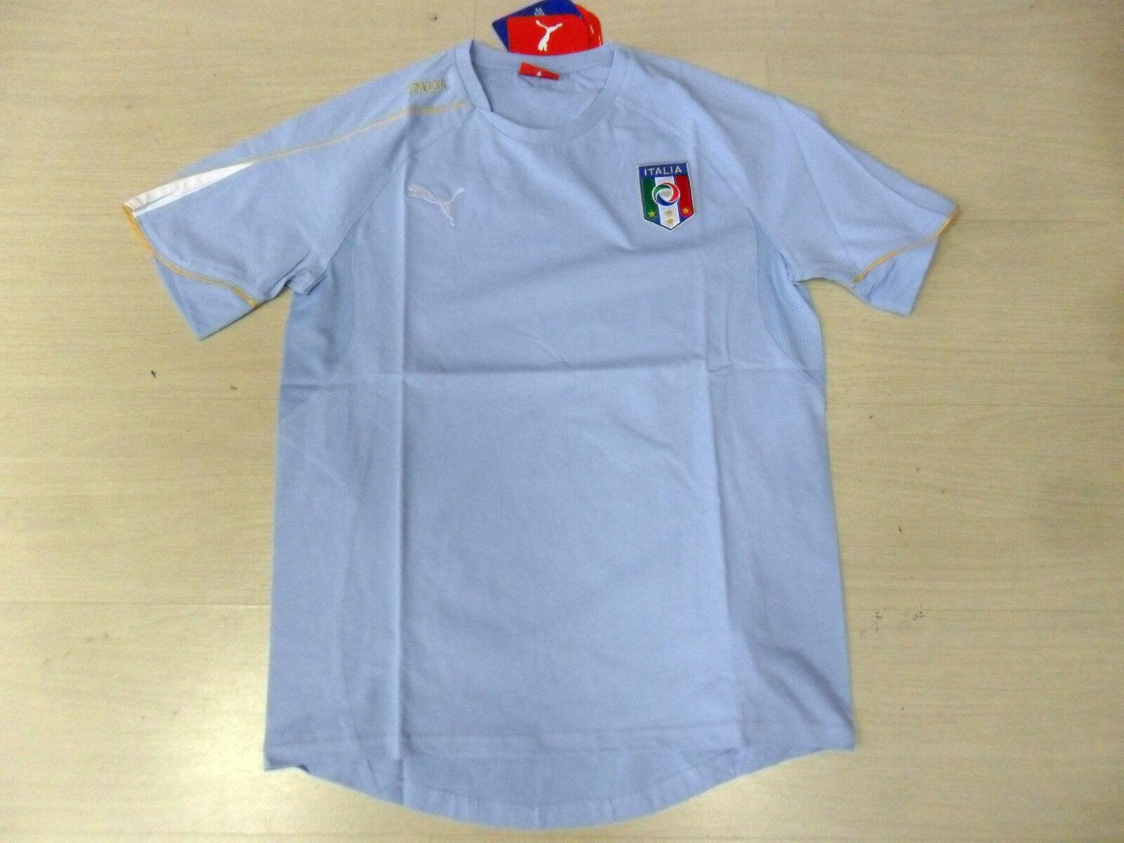 0741 TG XL ITALIA ITALY T-SHIRT MAGLIA MAGLIETTA COTONE COTONE COTONE CELESTE SKY JERSEY TEE 2c5934