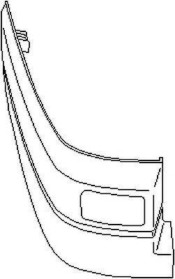 VW Transporter mk4 1990-2003 mk4 Posteriore Paraurti estremità sinistra
