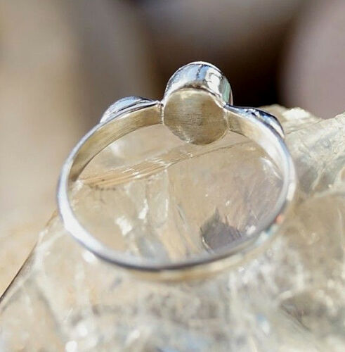 Silberring 56 58 59 60 Edelopal Schmal Modern Elegant Welo Opal Weiß Feuer Bunt