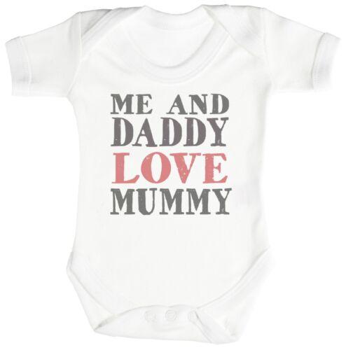 Babygrow Me And Daddy Love Mummy Baby Bodysuit