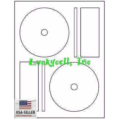 500 CD / DVD Laser and Ink Jet Labels - Full Face Memorex Size! 250 Sheets!