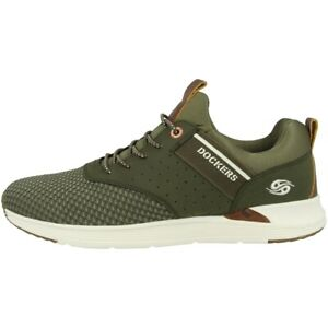 Dockers-by-Gerli-44bc003-Chaussures-Men-Hommes-Loisirs-Sneaker-kaki-44bc003-780850