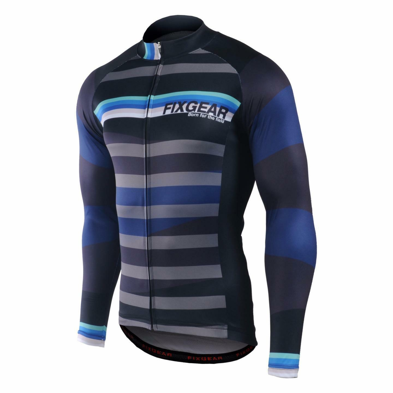 FIXGEAR CS-H701 Men's Long Sleeve Cycling Jersey Bicycle Apparel Roadbike MTB