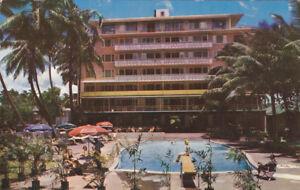 Details About Honolulu Oahu Hawaii Pu 1969 New Edgewater Hotel Waikiki Beach Pool