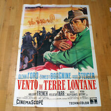 VENTO DI TERRE LONTANE poster manifesto Jubal Glenn Ford Felicia Farr Western