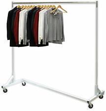 Industrial Garment Clothing Rack Organizer 400 Lbs Capacity Rolling Ex Long Bar