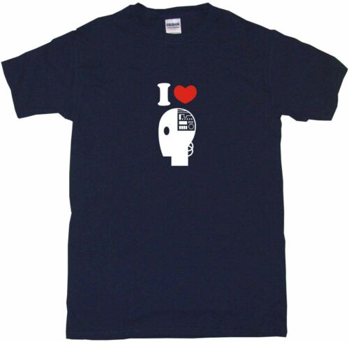 I Heart Love Robot Head Logo Mens Tee Shirt Pick Size /& Color Small 6XL