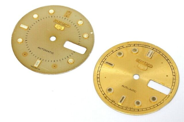 Two old seiko 5 7s26 dials without pins to restore, Diam. 28,3mm -4787