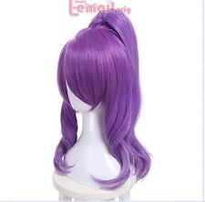 Star Guardian Janna Skins The Storm's Fury Purple Wavy Wave Cosplay Full Wig