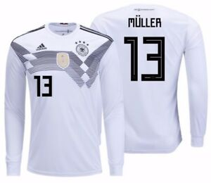 official photos 00ec4 1f64b Details about ADIDAS THOMAS MULLER GERMANY LONG SLEEVE HOME JERSEY WORLD  CUP 2018.